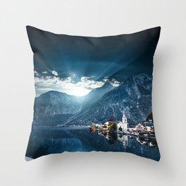 hallstatt in austria Throw Pillow