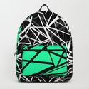 Black and white abstract geometric pattern with green insert . by fuzzyfox85