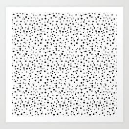 PolkaDots-Black on White Art Print