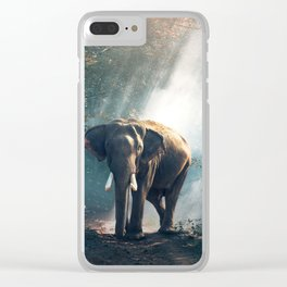 Sunlight Elephant Clear iPhone Case