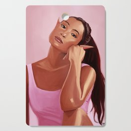 Yoga Elf Painting Cutting Board