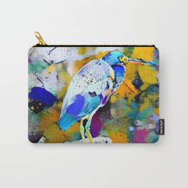 Great Blue Heron Abstract Carry-All Pouch