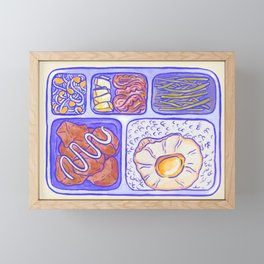 Lunch box Framed Mini Art Print