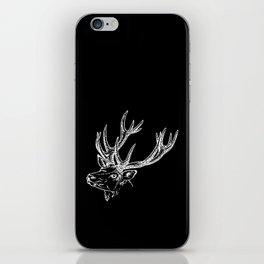 Deer Black White iPhone Skin
