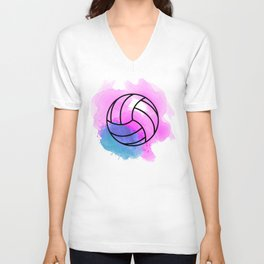 Volleyball Watercolor Unisex V-Neck