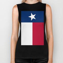 State flag of Texas, banner version Biker Tank