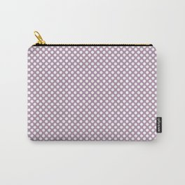 Lavender Herb and White Polka Dots Carry-All Pouch