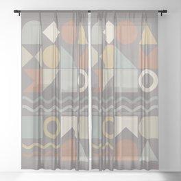 Geometric Shapes 02 Sheer Curtain