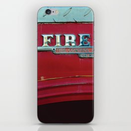 Fire Boss - Fort Worth - Fire Engine Red and Chrome iPhone Skin