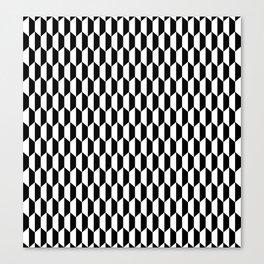 Hexa Checkers Canvas Print