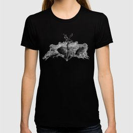 Abstract Charcoal Butterfly T-shirt
