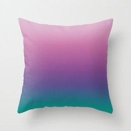 Pastel Gradient Pink Lavender Ultra Violet Arcadia Pattern | Pantone colors of the year 2018 Throw Pillow