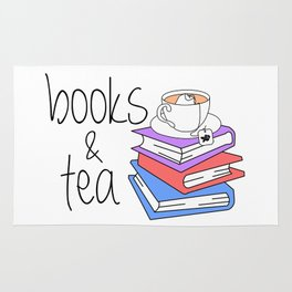 Books and Tea Bookworm Rug