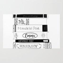 Jane Austen Book Stack Rug