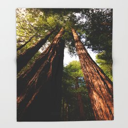 Redwood Tree Tops Throw Blanket