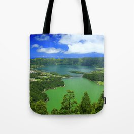 Lakes in Azores islands Tote Bag