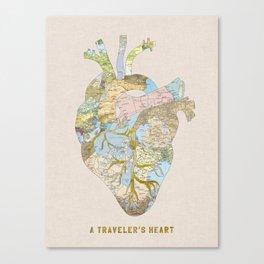 A Traveler's Heart Canvas Print
