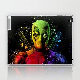 DeadPool2 Comic Book Movie Graffiti Style Abstract Painting - Ryan Reynolds Laptop & iPad Skin