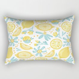 Lemon pattern White Rectangular Pillow
