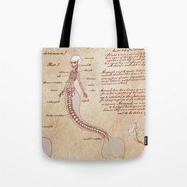 Anatomy of the Mermaid Tote Bag