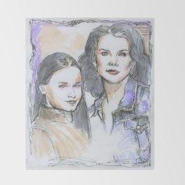 Lorelai & Rory Throw Blanket