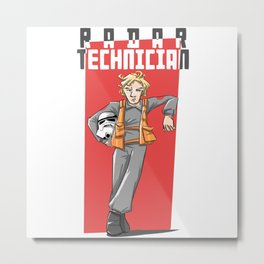 Radar Technician Metal Print
