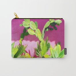 Plants on Pink Carry-All Pouch