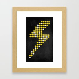 Lite Bolt Framed Art Print