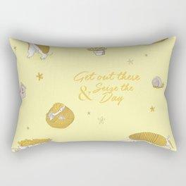 Yellow armadillo pattern Rectangular Pillow