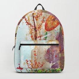 Abstract Garden Watercolor Backpack