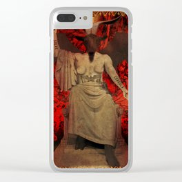 Baphomet Tarot Clear iPhone Case