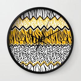 wild stripes pattern Wall Clock