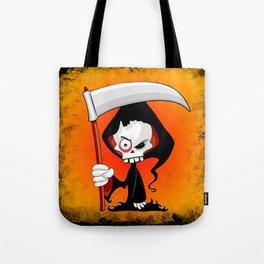 Grim Reaper Creepy Cartoon Character Tote Bag