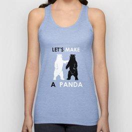Let's Make A Panda Shirt Funny Polar Bear Black Bear Shirt Unisex Tank Top