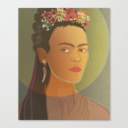 Dear Frida / Stay Wild Collection Canvas Print