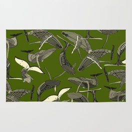 just whales green Rug