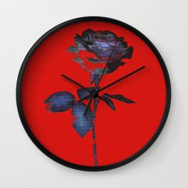 Enhancing the Ordinary (In red) Wall Clock