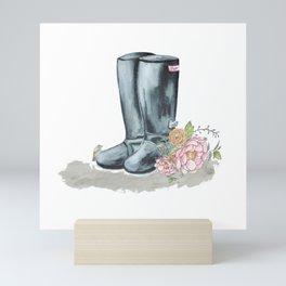 Spring Rain Boots Mini Art Print