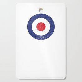 Roundel British War Plane Target Bullseye Cracked Cutting Board