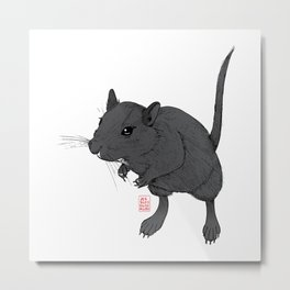 Gerbil Off Metal Print