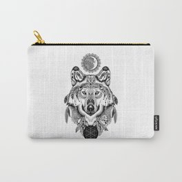 Bohemian Celestial Wolf Carry-All Pouch