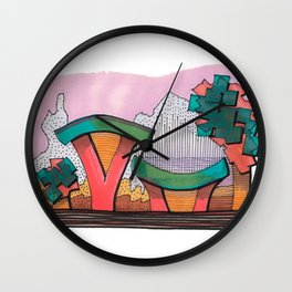 Funky Architecture Nature Landscape 28 Wall Clock