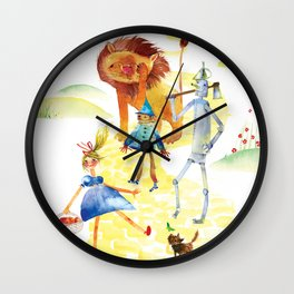 YELLOW BRICK GANG Wall Clock