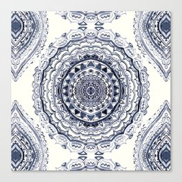 Supernova-In Navy, Dark Blue, & Grey Canvas Print