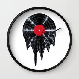 Melting vinyl / 3D render of vinyl record melting Wall Clock
