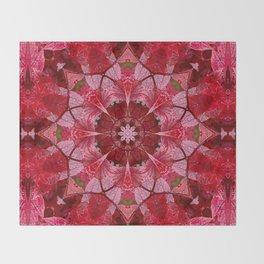 Cranberrybush Viburnum mandala Throw Blanket