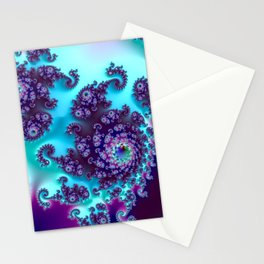 Jewel Tone Fractal Stationery Cards