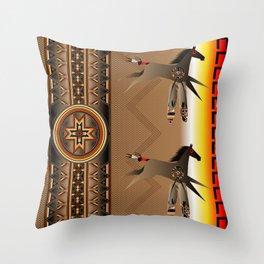 War Horse Throw Pillow