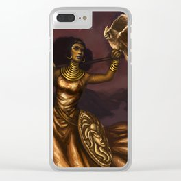 Goddess of Wisdom Clear iPhone Case