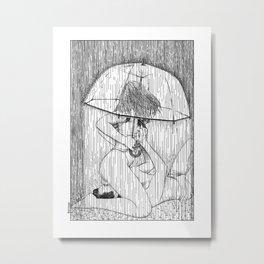 asc 514 - La fille qui aimait la pluie (Rider on the storm) Metal Print
